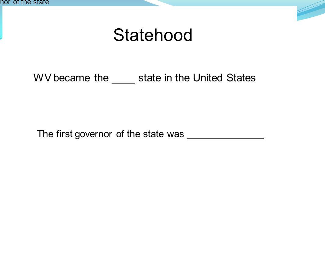 Government Name the current WV Senators and Representatives.