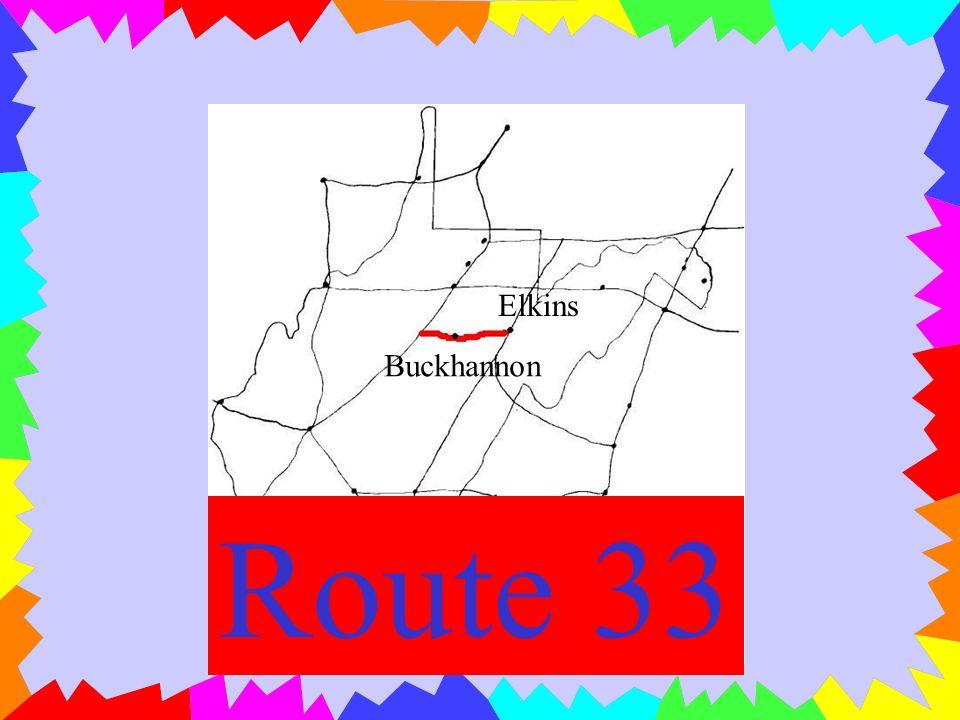 Parkersburg Clarksburg Romney Winchester Route 50