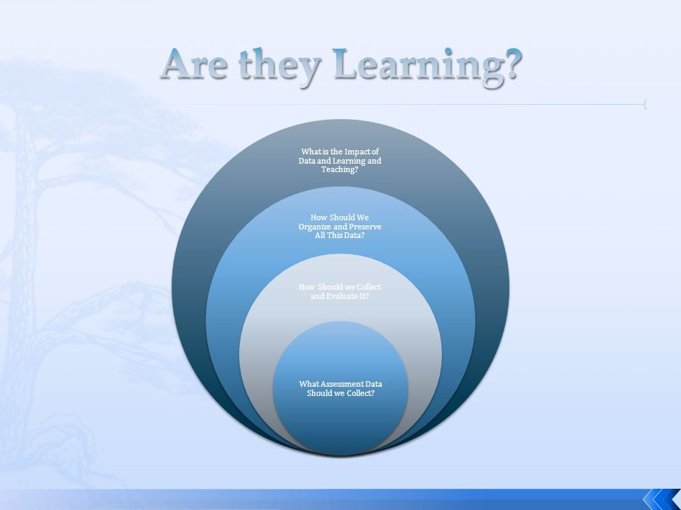 What is the Impact of Data and Learning and Teaching? How Should We Organize and Preserve All This Data? How Should we Collect and Evaluate It? What A