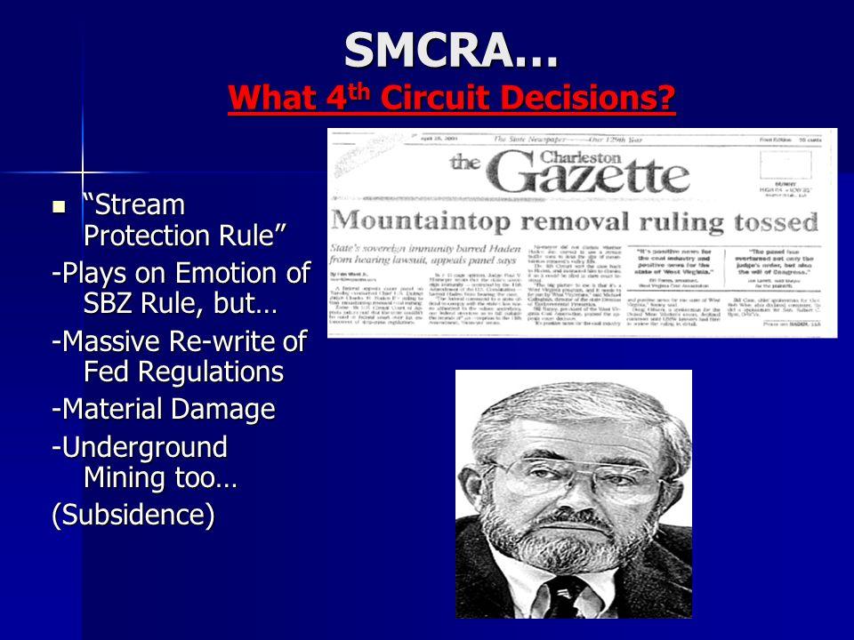 SMCRA… What 4 th Circuit Decisions.