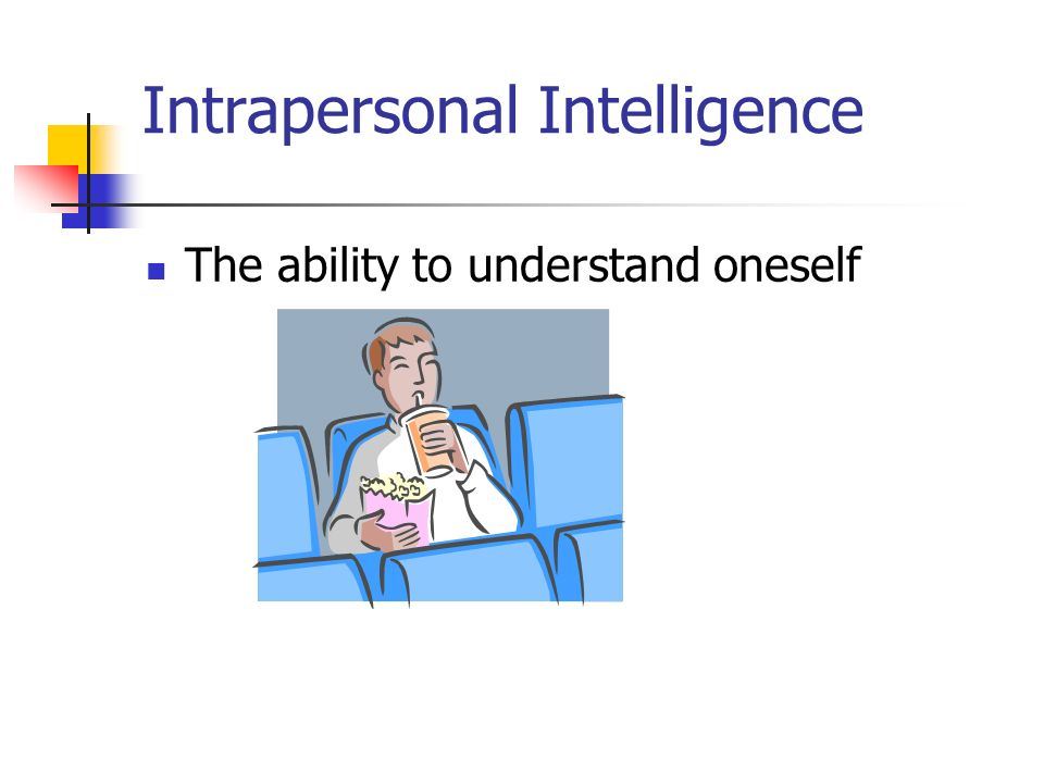 Intrapersonal Intelligence The ability to understand oneself