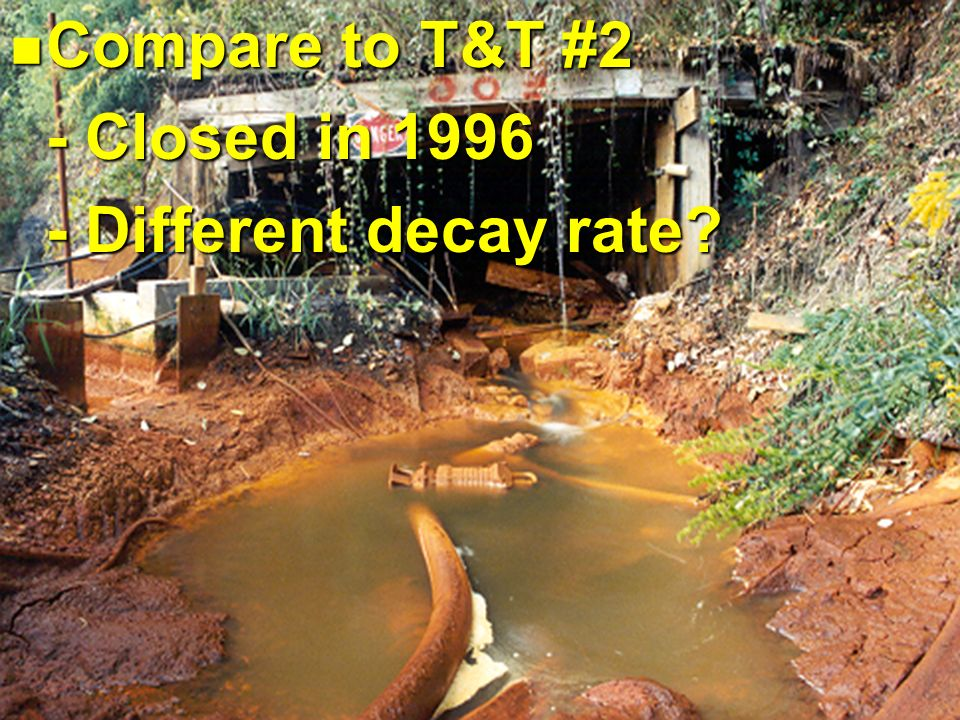 Compare to T&T #2 Compare to T&T #2 - Closed in 1996 - Different decay rate?