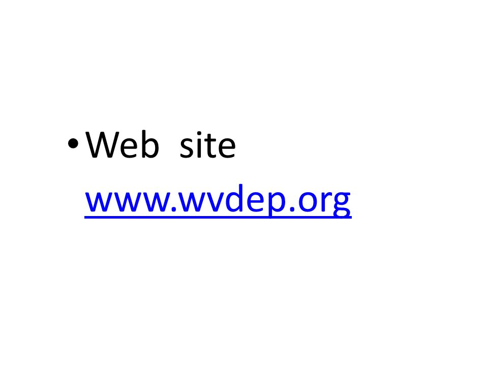 Web site www.wvdep.org