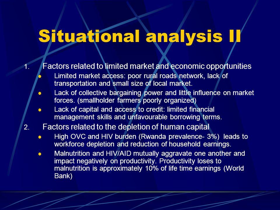 Situational analysis II 1.