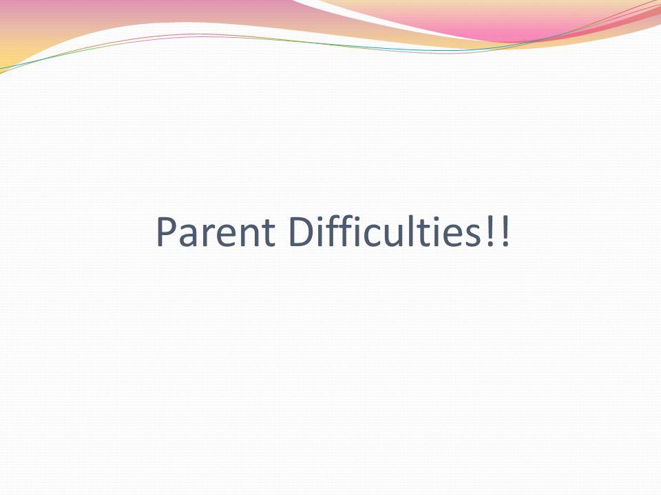 Parent Difficulties!!