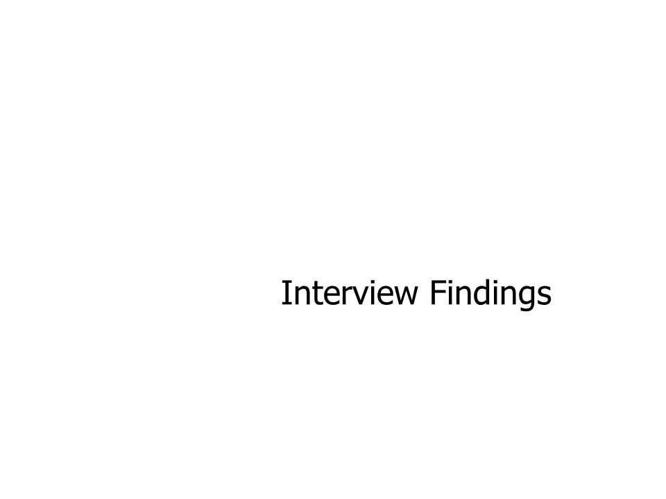 Interview Findings