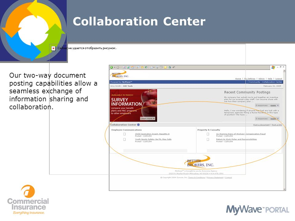 Our two-way document posting capabilities allow a seamless exchange of information sharing and collaboration.