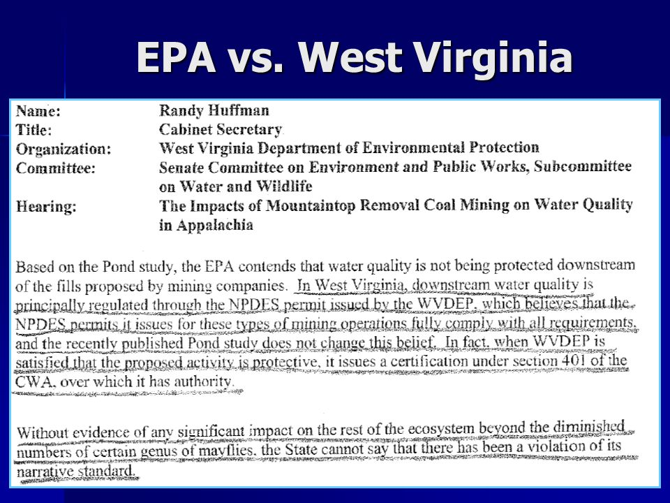 EPA vs. West Virginia