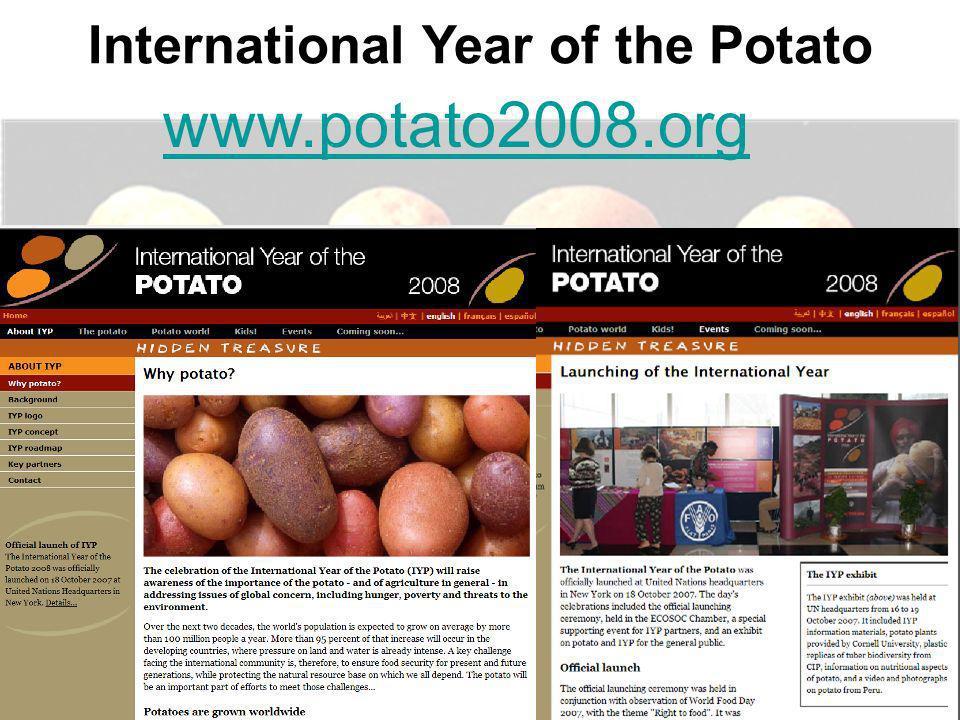 www.potato2008.org International Year of the Potato