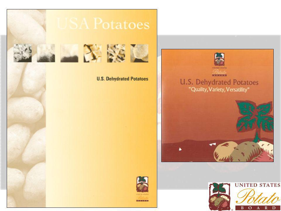 Manufacturing Dehydrated Potatoes starts with high quality fresh potatoes Russet varieties –