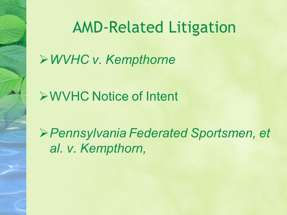 AMD-Related Litigation WVHC v.