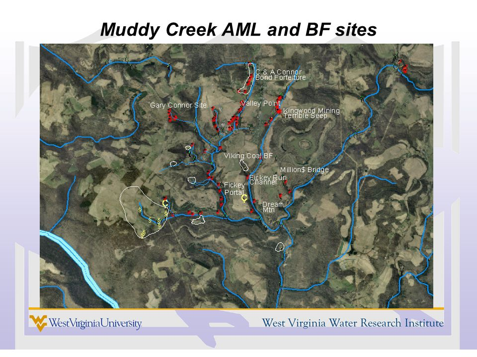 Muddy Creek AML and BF sites