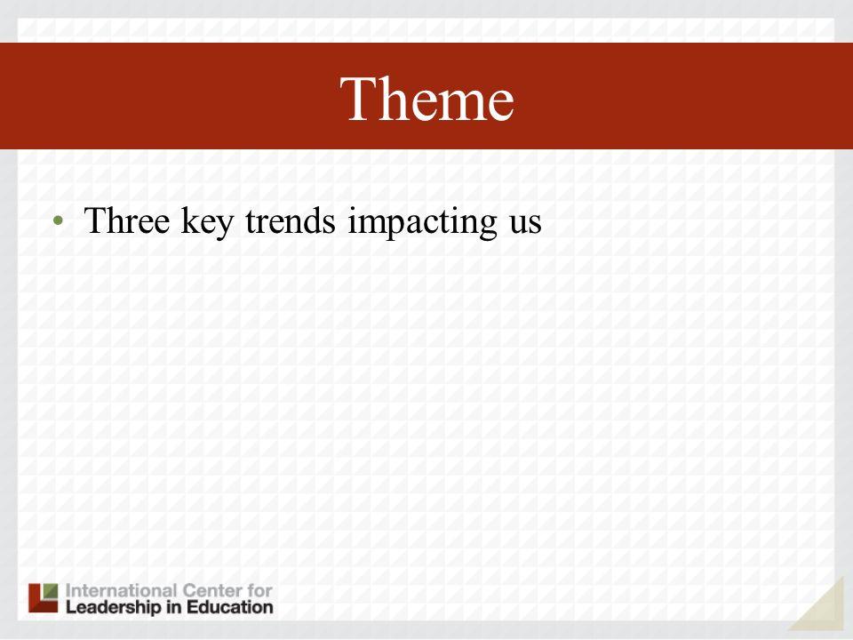 Theme Three key trends impacting us