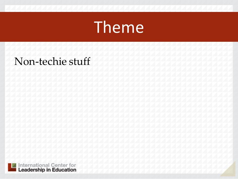 Theme Non-techie stuff