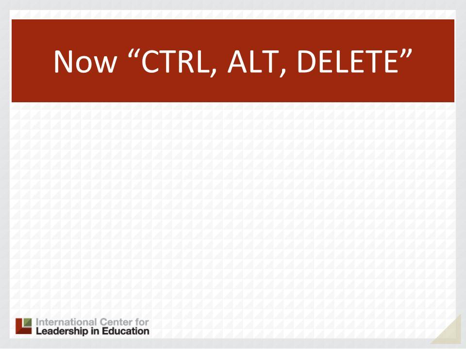 Now CTRL, ALT, DELETE