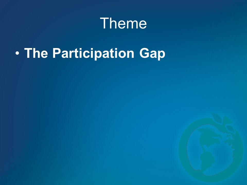 Theme The Participation Gap
