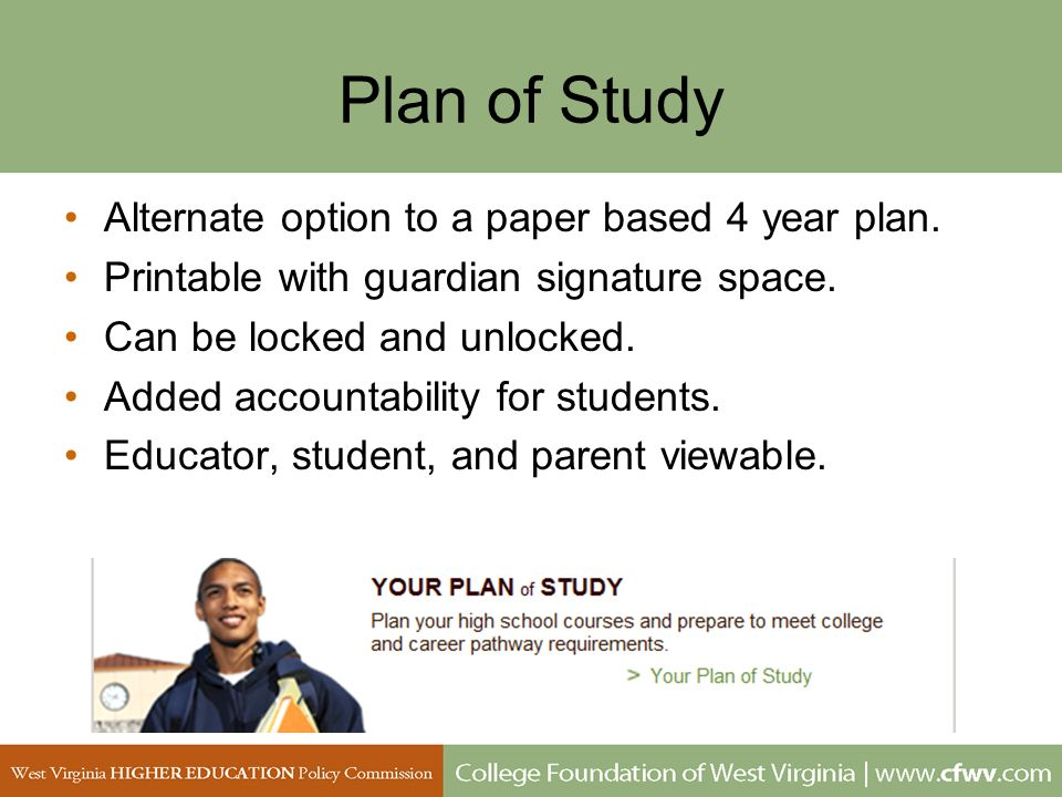 Plan of Study Alternate option to a paper based 4 year plan. Printable with guardian signature space. Can be locked and unlocked. Added accountability