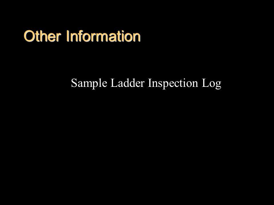 Other Information Sample Ladder Inspection Log