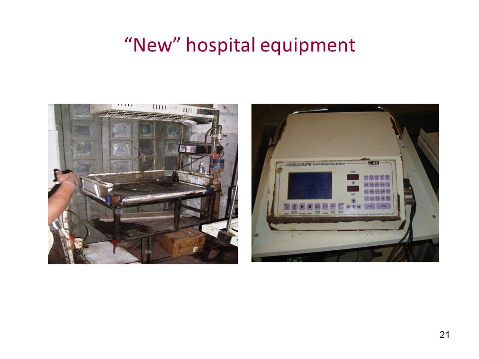 21 New hospital equipment