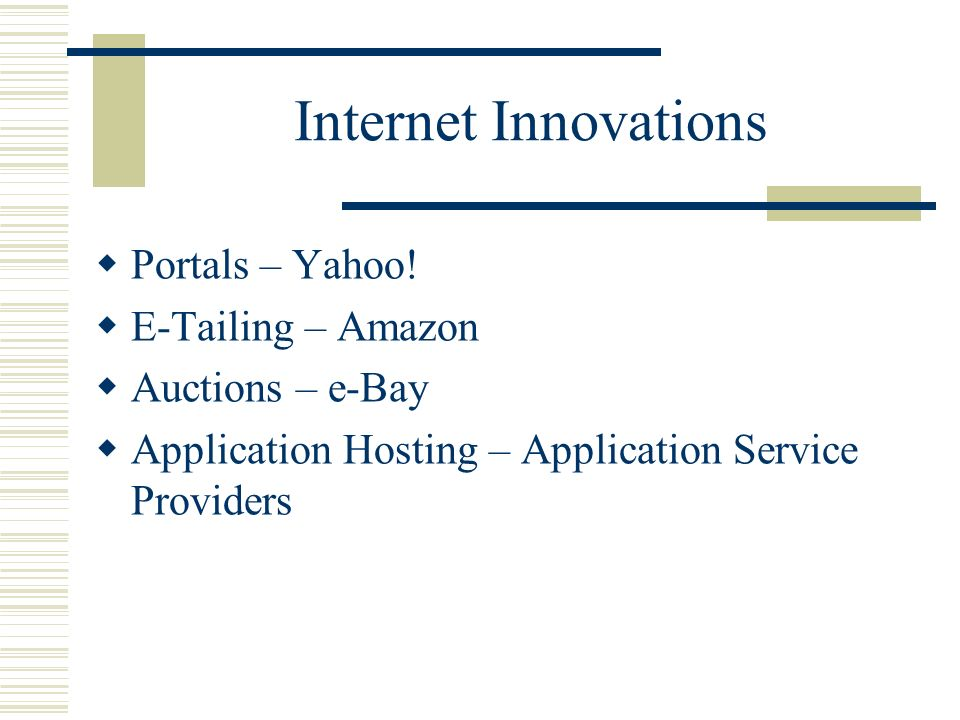 Internet Innovations Portals – Yahoo.