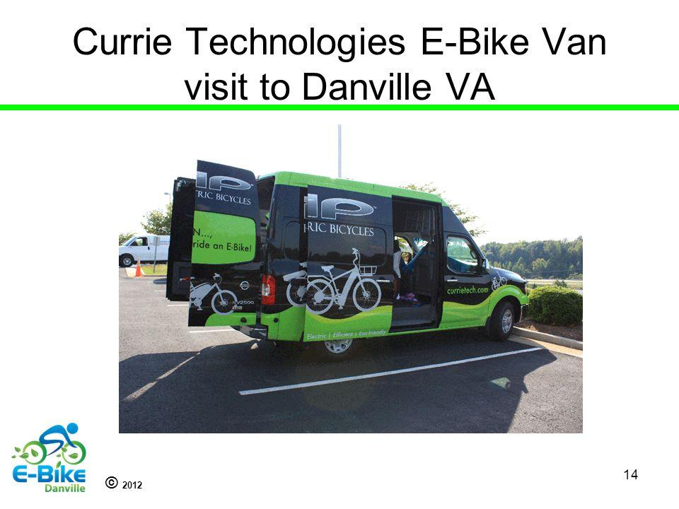 © 2012 Currie Technologies E-Bike Van visit to Danville VA 14