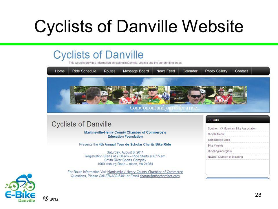 © 2012 28 Cyclists of Danville Website