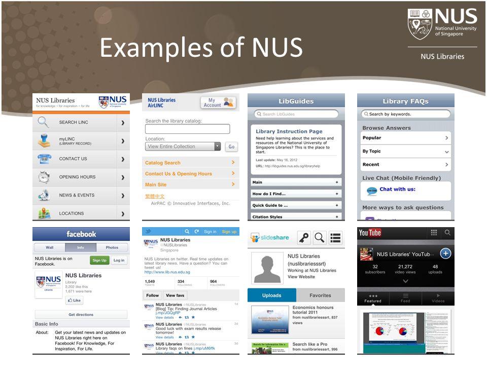 Examples of NUS