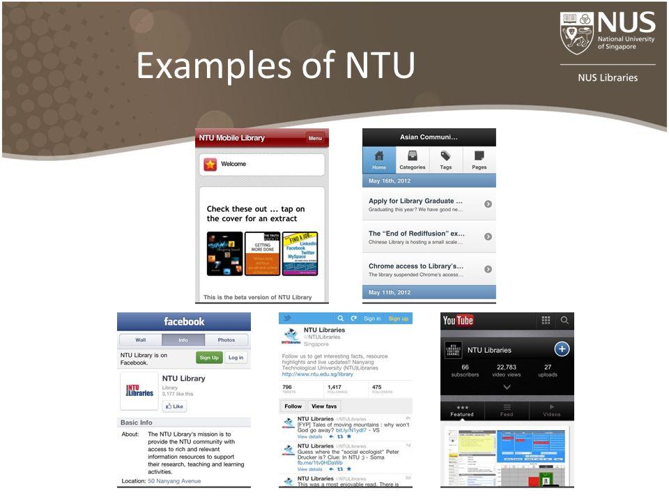 Examples of NTU