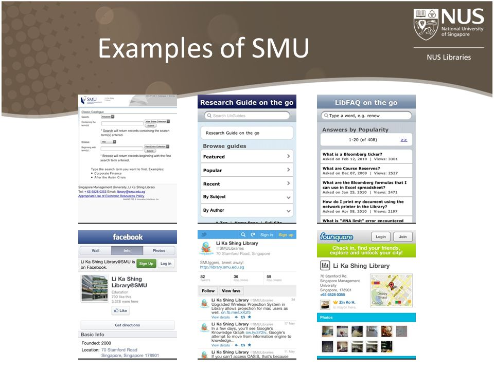 Examples of SMU