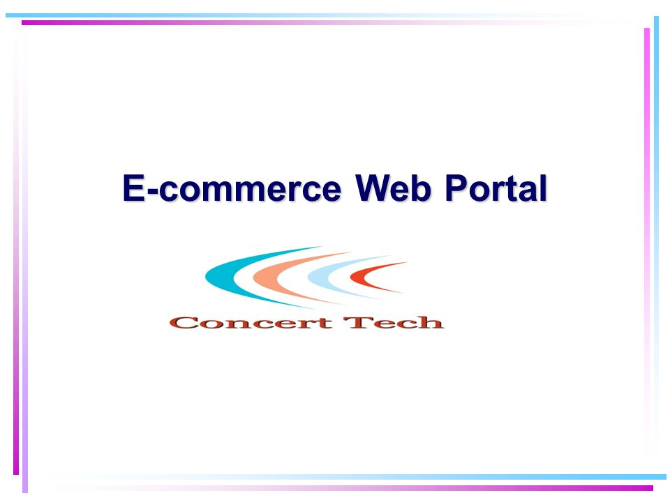 Plan of the talk Architecture of e-commerce applications Bookstore example Perspectives for e-commerce What We offer