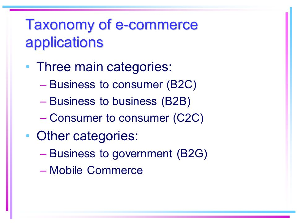 Issues in developing e-commerce applications (2/2) A state-of-the-art application always fail if people do not utilize it –A constant attention must be payed to the users over the whole development process A close integration with every business aspect is needed: –For an online buyer security and easy access to the informations are the primal needs –A manager will need a flexible application to adapt the business to the new trends in a faster way