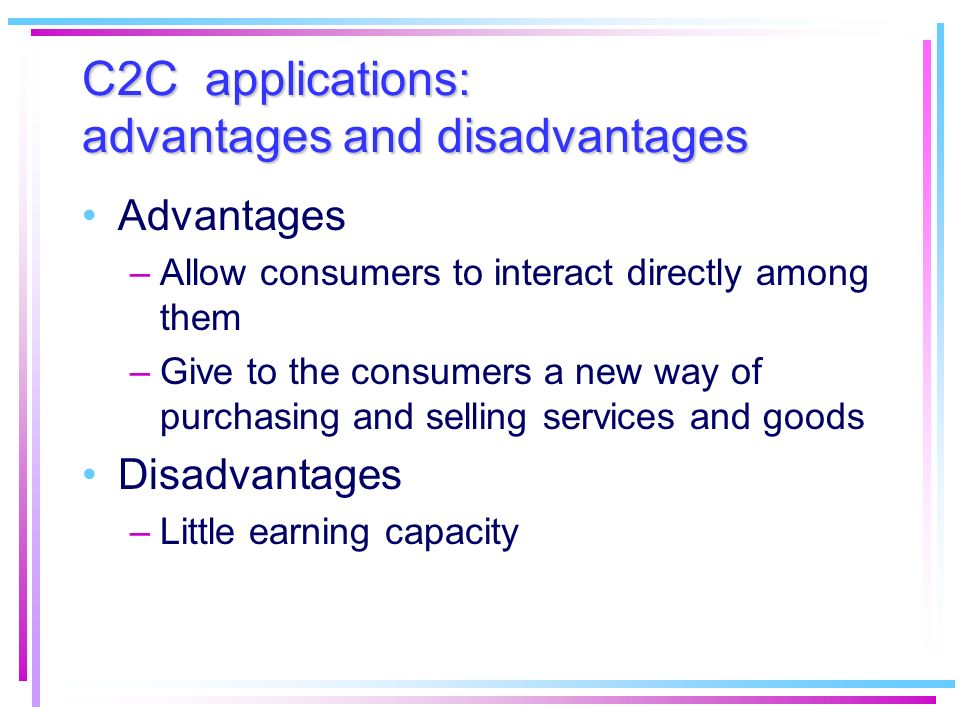 B2G applications Correspond to all kind of transactions between company and public administrator Utilized mostly in the USA