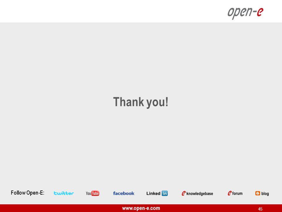 www.open-e.com 45 Follow Open-E: Thank you!