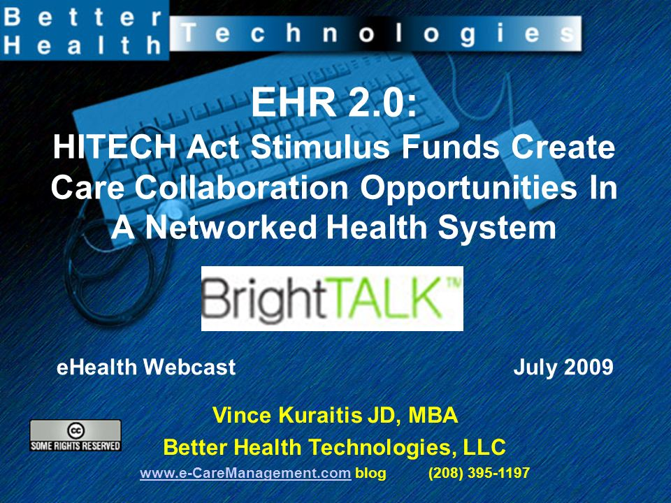 12 EMR 1.0 to EHR 2.0 Todays Predominant EMR 1.0 –client server based –proprietary –non-interoperable –no connectivity to patients –monolithic Tomorrows EHR 2.0 –web-based, cloud computing –open –interoperable –networked –platform/application (clinical groupware)