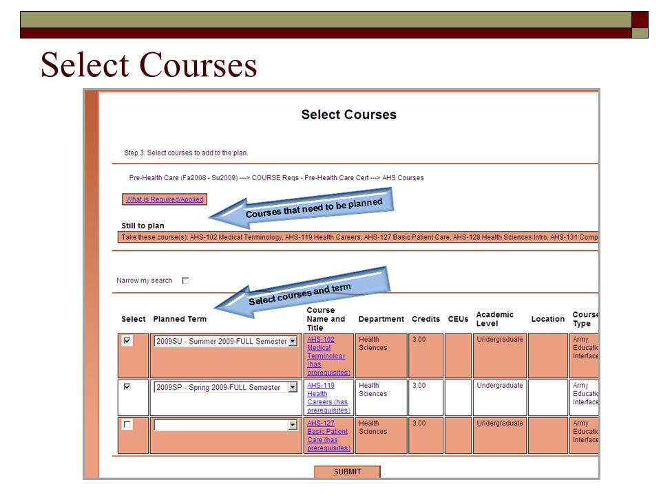 Select Courses