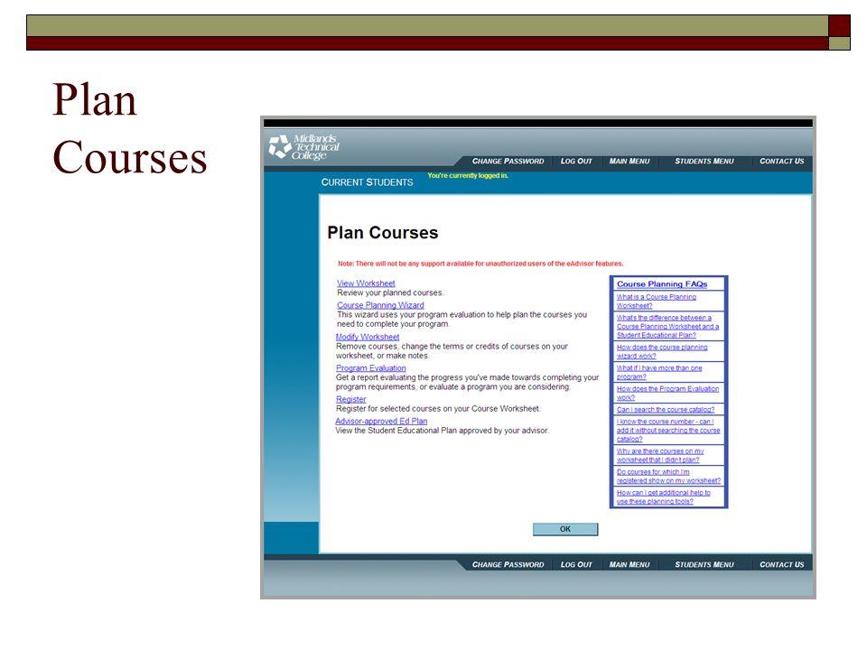 Plan Courses