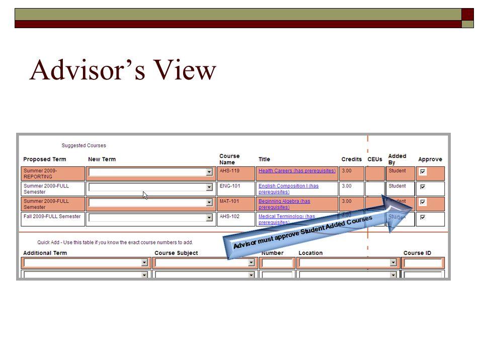 Advisors View