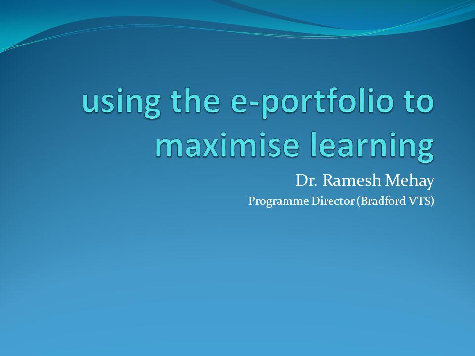 Dr. Ramesh Mehay Programme Director (Bradford VTS)