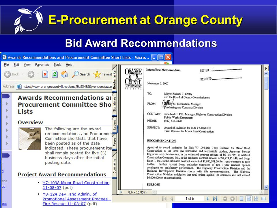 17 E-Procurement Definition Business Business Example (Minority Vendor Search Results) MWB/E Graduate Firms MWB/E Complete Vendor Listing