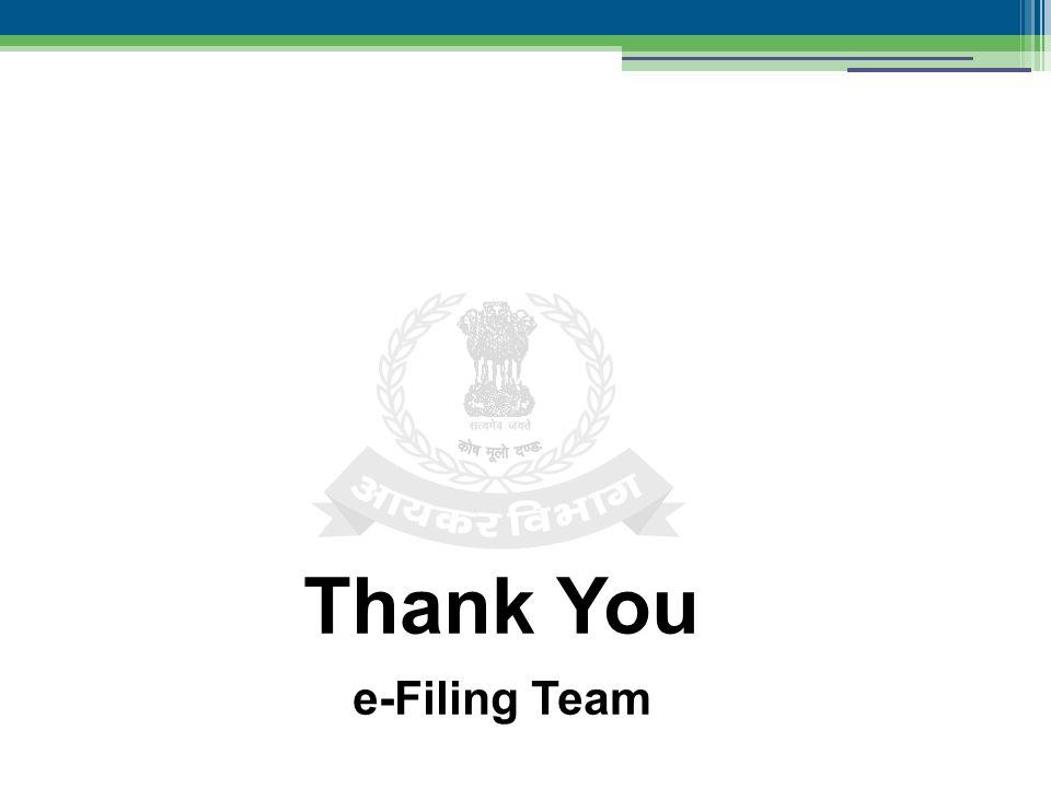 Thank You e-Filing Team