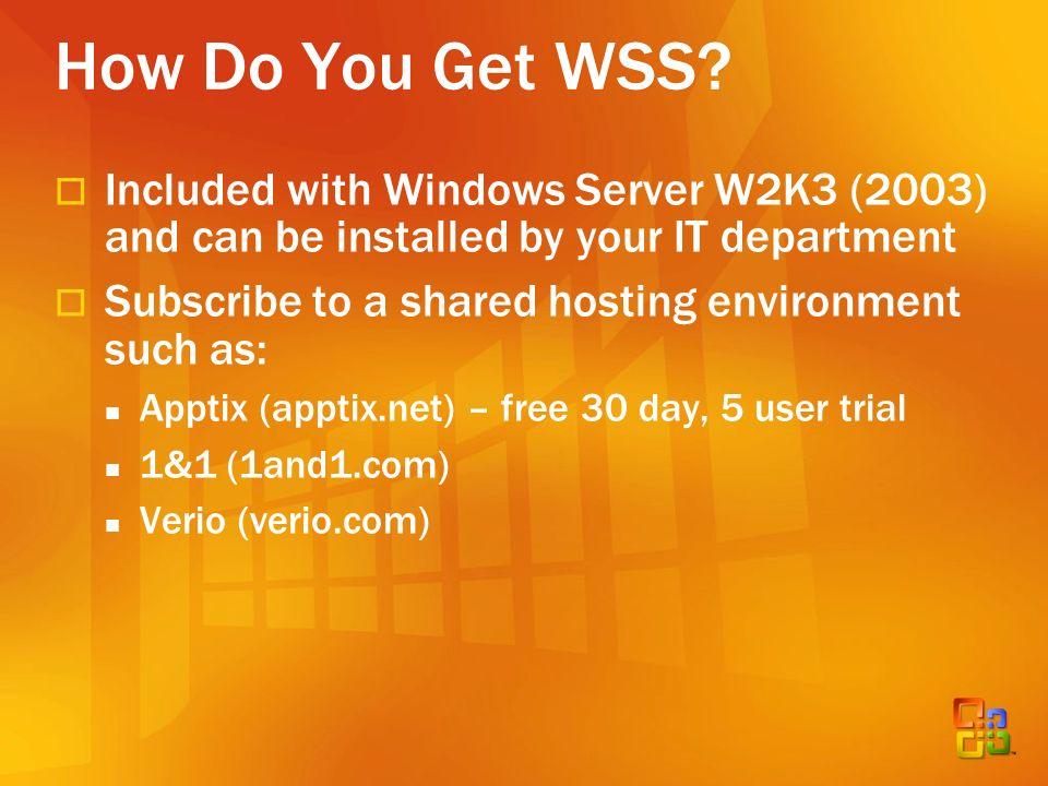 How Do You Get WSS.