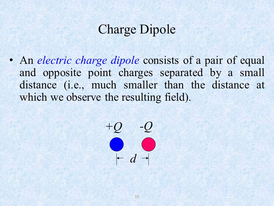 Dipole Moment Dipole moment p is a measure of the strength of the dipole and has its direction.