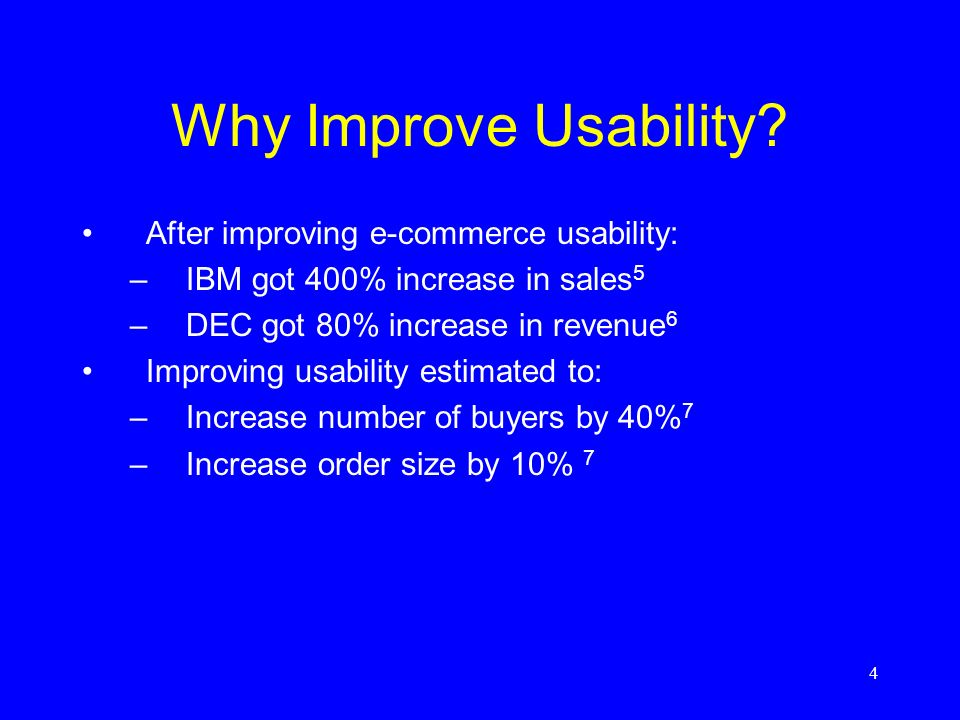 4 Why Improve Usability.
