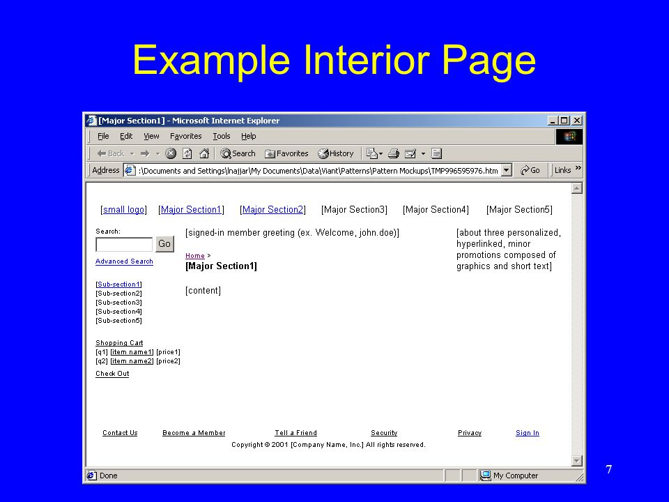 7 Example Interior Page