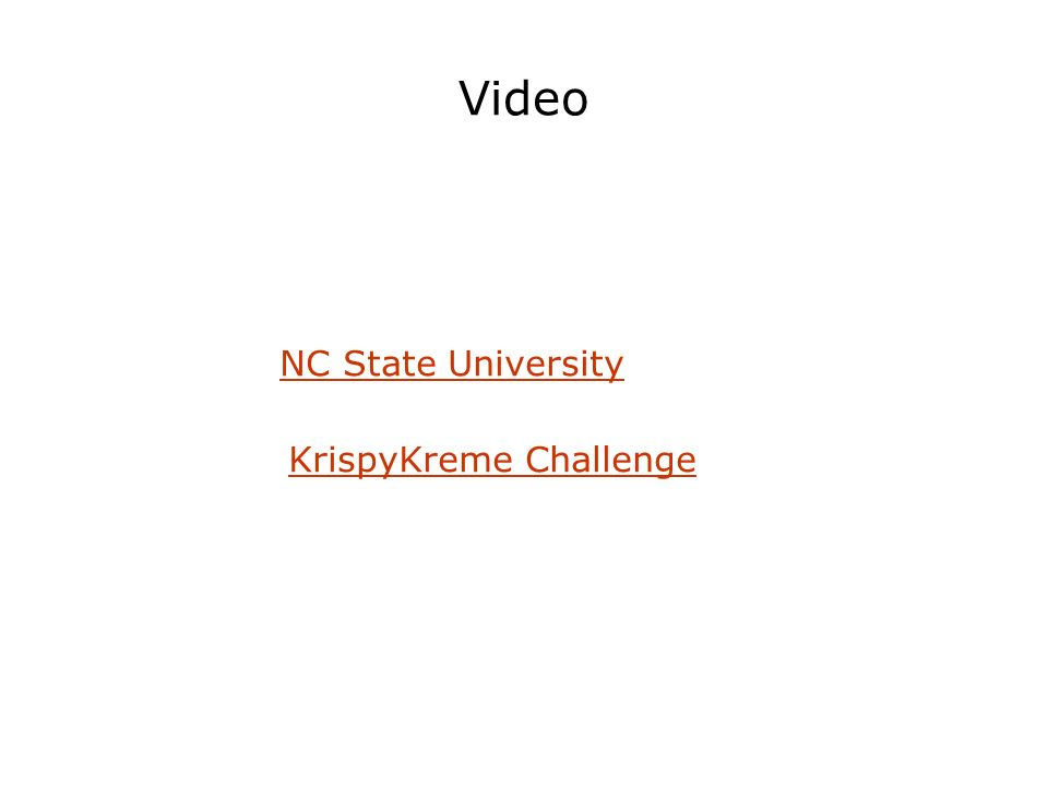 Video NC State University KrispyKreme Challenge
