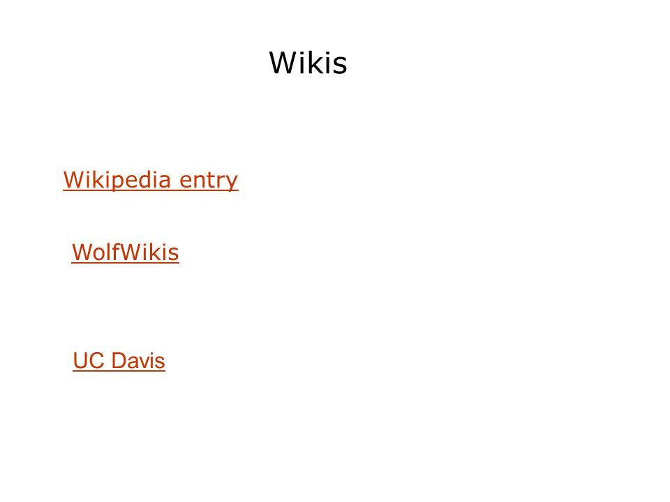 Wikis WolfWikis Wikipedia entry UC Davis