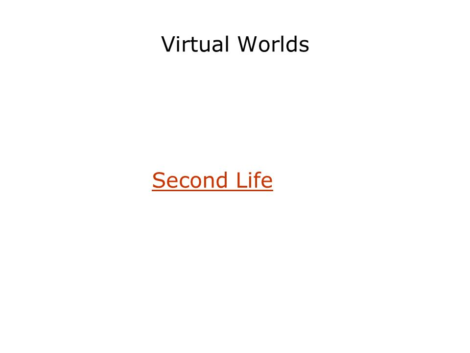 Virtual Worlds Second Life
