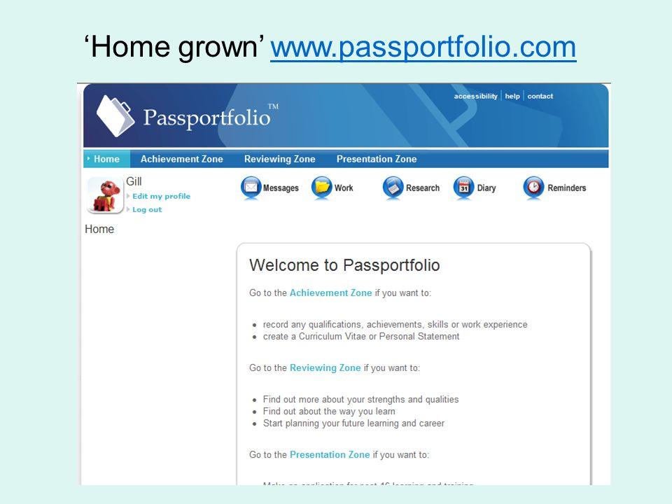 Home grown www.passportfolio.com www.passportfolio.com