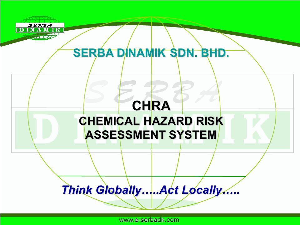 www.e-serbadk.com SERBA DINAMIK SDN. BHD. Think Globally…..Act Locally….. CHRA CHEMICAL HAZARD RISK ASSESSMENT SYSTEM