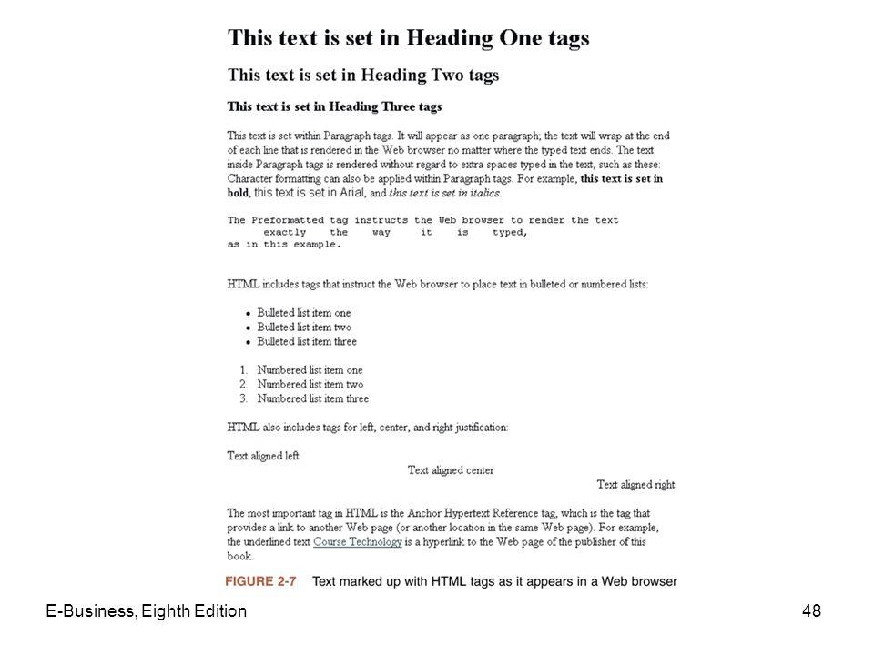E-Business, Eighth Edition48